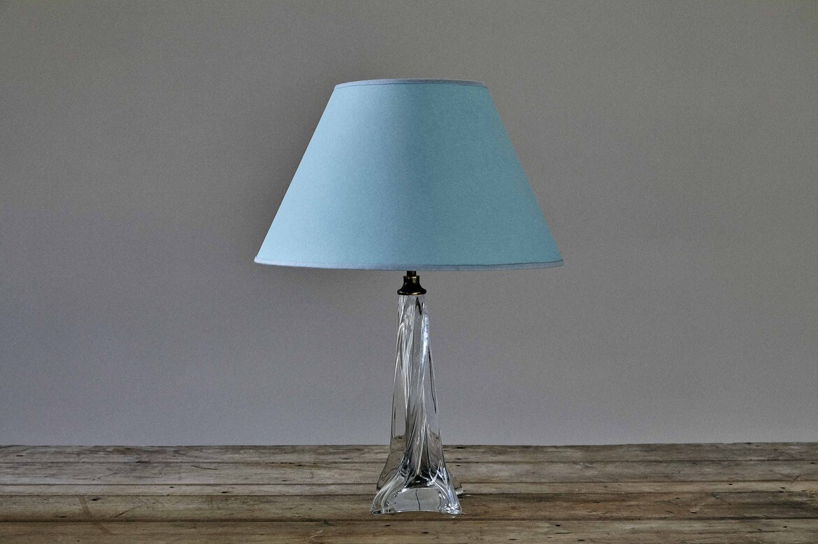 alamp234 clear glass table lamp